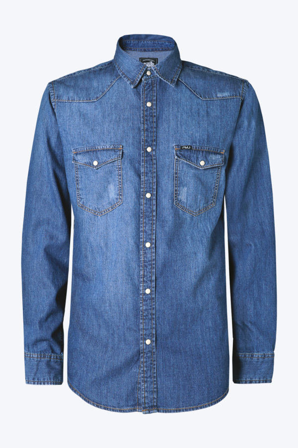 PMJ Jeans Denim Shirt Uomo 01